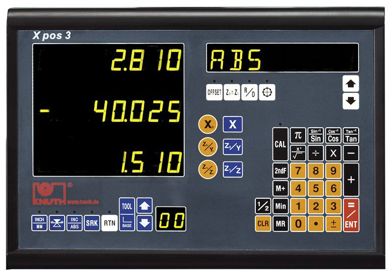 Three Axis Electronic Test Indicators : Axis position