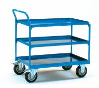 Table top cart with 3 steel plat...