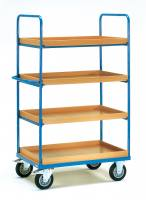Shelved trolley 4 with boxes 100...
