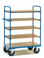 Shelved trolley 500 kg, 5 shelve...