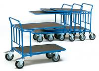Cash and carry cart 2 shelves 1000 x 600 mm